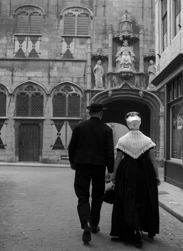 Walcheren, the abbey of Middelburg, 1950s by Cas Oorthuys