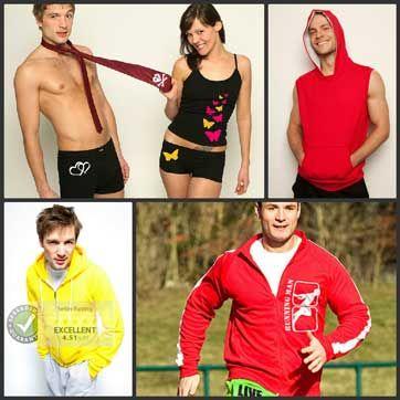 Ontwerp nu goedkoop en snel je sweater, sportkleding, boxershort, kookschort, messenger tas en vele andere items voor mannen!