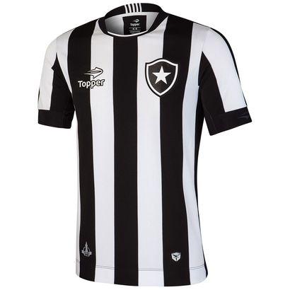 Garanta o novo manto do Fogão e exiba sua torcida dentro e fora dos estádios. A Camisa Topper Botafogo I 2016 s/nº Preto e Branco é perfeita para torcer e vibrar com as vitórias do Glorioso. | Netshoes