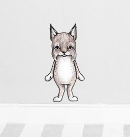 Loke the lynx sticker  Removable nursery wall stickers  www.peppapenny.com  Shop 3, 1642 Anzac Ave  North Lakes, QLD 4509