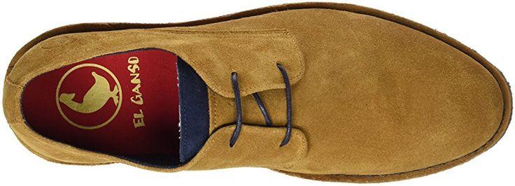 El Ganso Botín Bajo Guerrero Ante Cuero - Zapatos de cordones para hombre, color marrón, talla 41