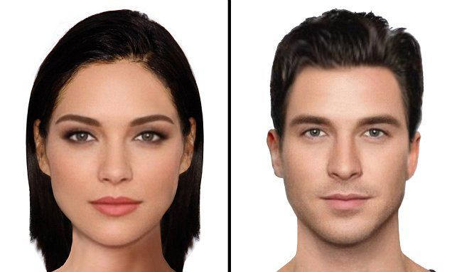 Most beautiful faces in the world? Scientists use e-fits to create the most attractive man and woman (according to Britain) - and David Gandy and Kendall Jenner are the closest real life examples