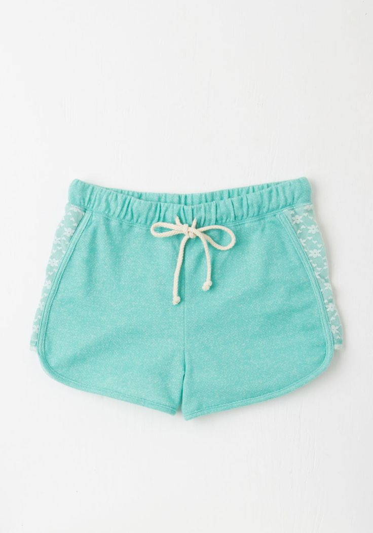 Laid-back in the Day Shorts in Turquoise. All your favorite recollections are marked with a carefree attitude - slip into these chilled-out turquoise shorts and make more fun memories! #blue #modcloth