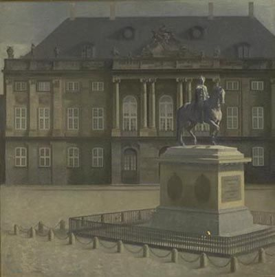 Vilhelm Hammershøi (1864-1916), 'Amalienborg Palace Square', 1896