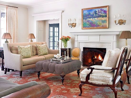 Dutch colonial interior decorating before and after - Cozy elegant living rooms ...