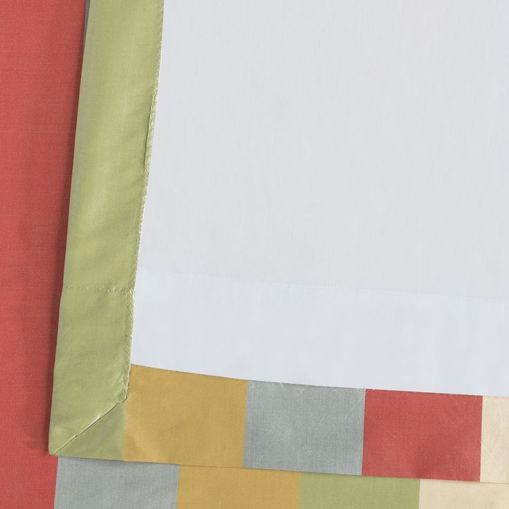Hapsford Designer Striped Faux Silk Curtain