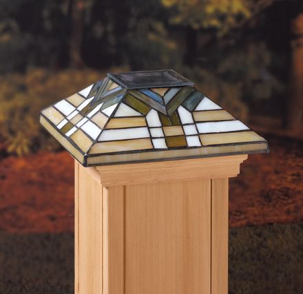 deckorators lighting and accessories by maine ornamental solar glass post caps post
