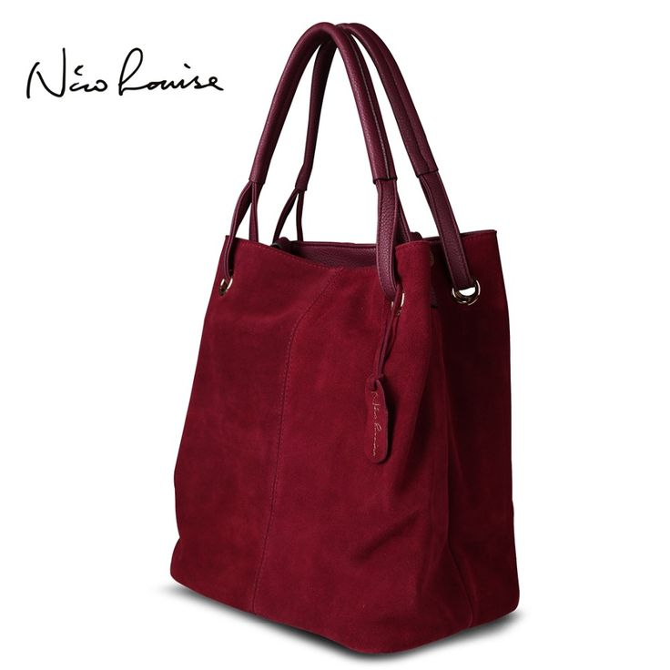 Real Split Suede Leather Bag //Price: $75 & FREE Shipping //     #totes