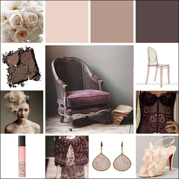 Wedding color palette blush pink and deep purple for Purple and taupe bedroom