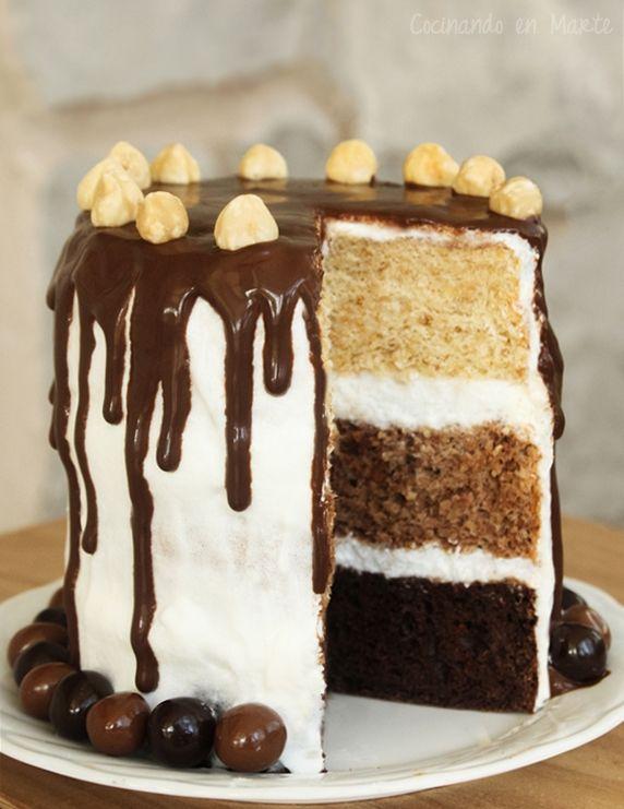 Drip Cake de Avellanas