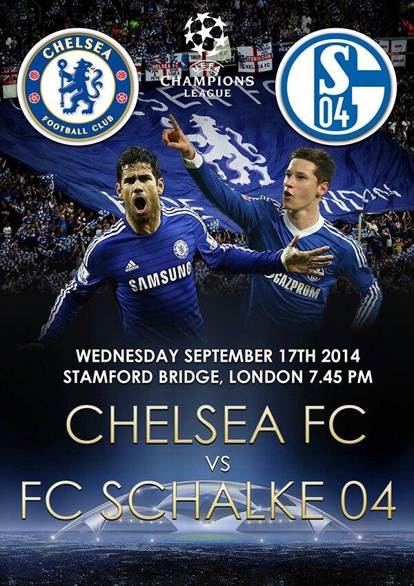 UEFA Champions League 2014-2015 poster Chelsea vs Schalke