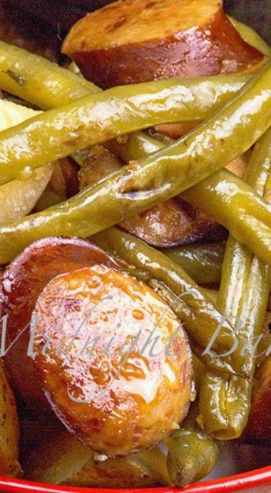 Kielbasa Green Bean and Potato Casserole