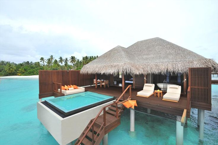 What a setting for a relaxing hot tub!    Ayada Maldives on the island of Maguhdhuvaa