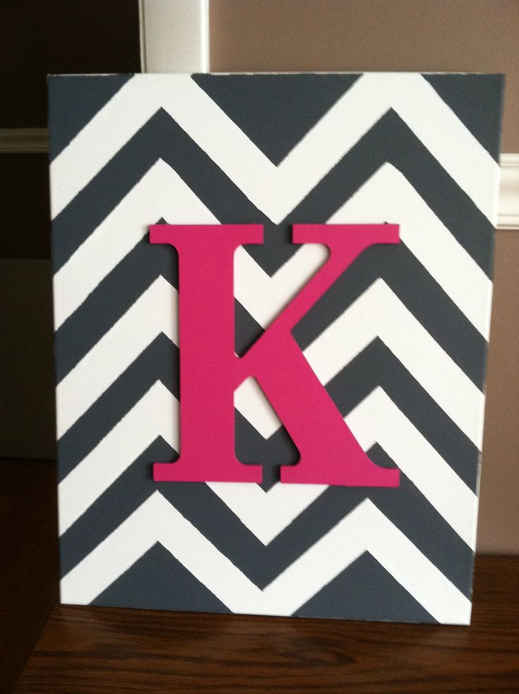 Initial Chevron canvas