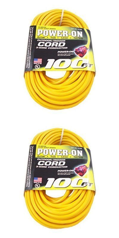 Other Gardening Supplies 181051: Extension Cord Lighted Plug Ultra  Flexibility Heavy Duty Yellow 15 Amp