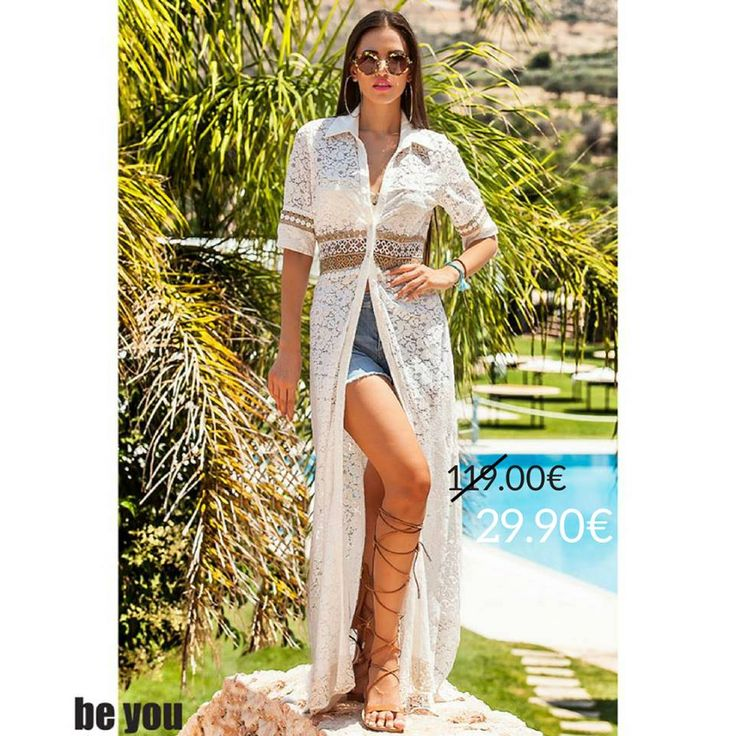 Extending summer as much as possible..☀️ Φόρεμα-Πουκαμίσα > http://goo.gl/vRsRD4  #shirtdress #lace #summerfashion #beyoucomgr #sexy