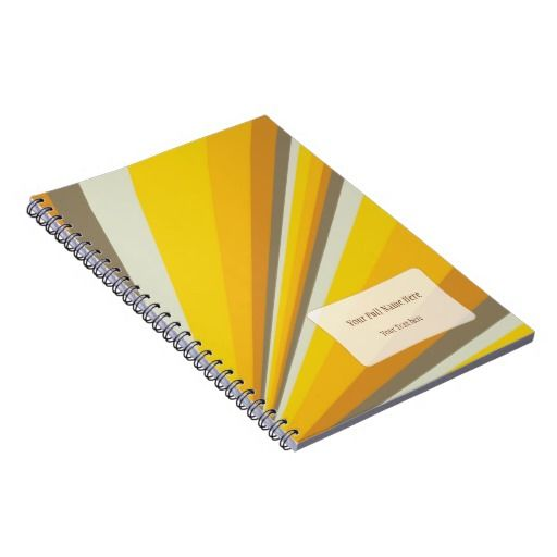 Customizable notebook in reach autumn colors