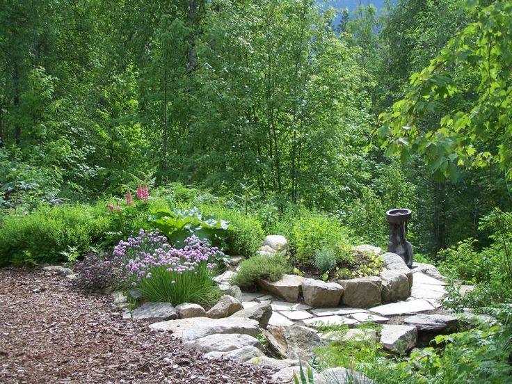 Woodland garden ideas vertical gardens waterfall