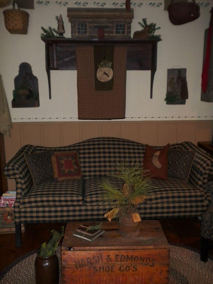 128 best primitive living rooms images on pinterest