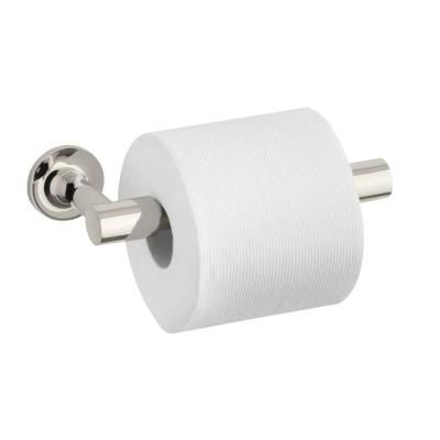 KOHLER Purist Double Post Toilet Paper Holder in Vibrant Polished Nickel-K-14377-SN - The Home Depot