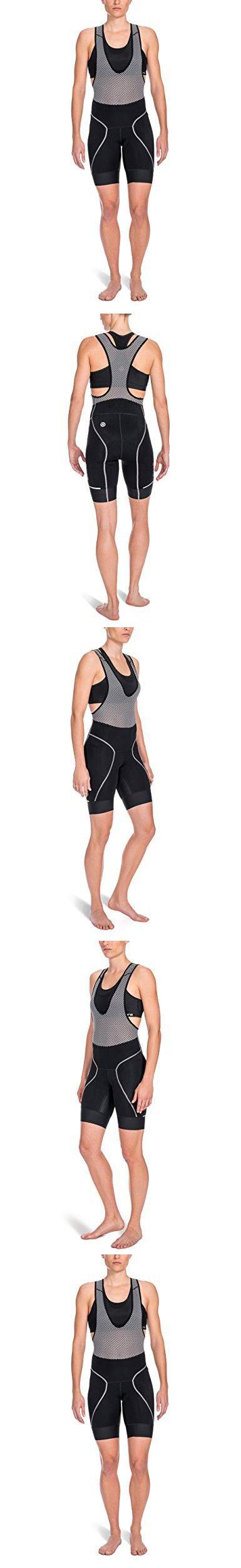 SKINS Women's Cycle Bib Shorts, Black, Small