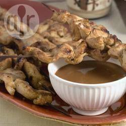 Poulet satay aux cacahuètes