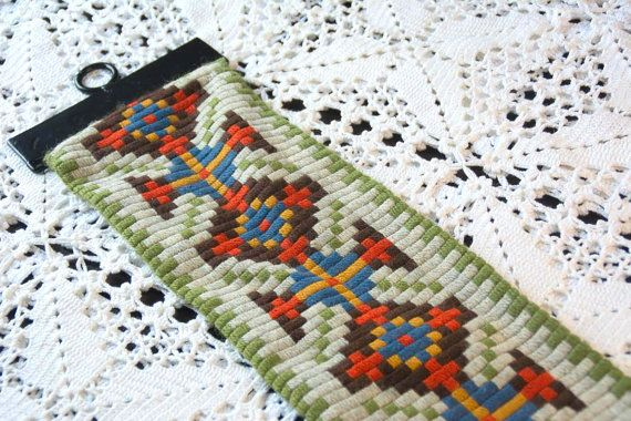 Vintage Norwegian  Embroidered Long Wall Decor by Scandifinds