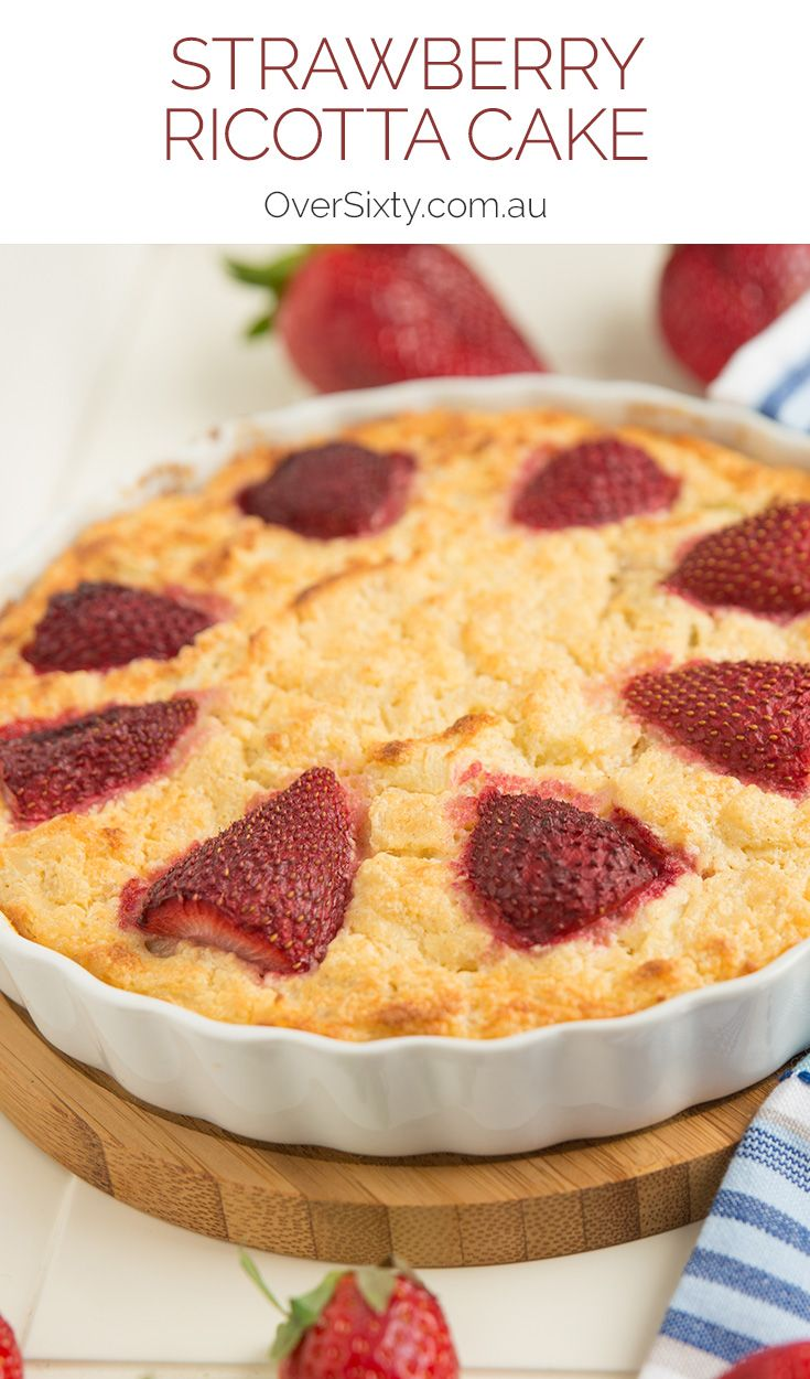 Strawberry Ricotta Cake - This impressive-looking strawberry dessert surprisingly easy to make.