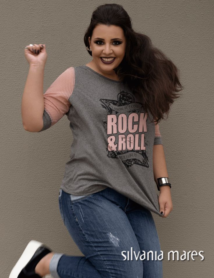 Rock and Roll t-shirt plus size