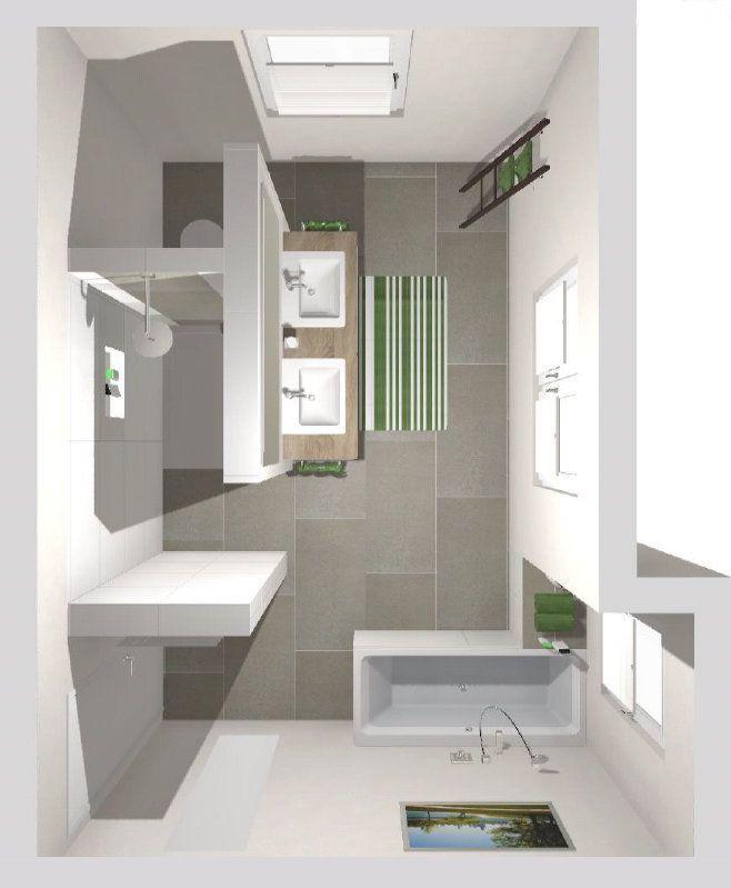 Das Badezimmer Mit T Wand 3d Planung Vogelperspektive 3dplanung Badezimmer Badezimmeri In 2020 Badezimmer Badezimmer Innenausstattung Badezimmer Grundriss
