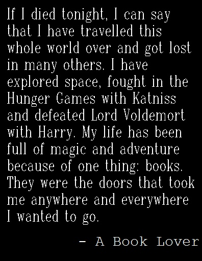 Book Lovers.. (except no hunger games for me)