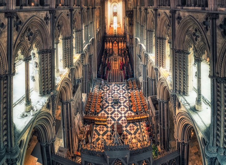 Ely Cathedral Ely, United Kingdom Arts + Culture Offbeat building cathedral place of worship medieval architecture chapel byzantine architecture religious institute vault gothic architecture Church basilica arch symmetry historic site altar crypt stock photography abbey