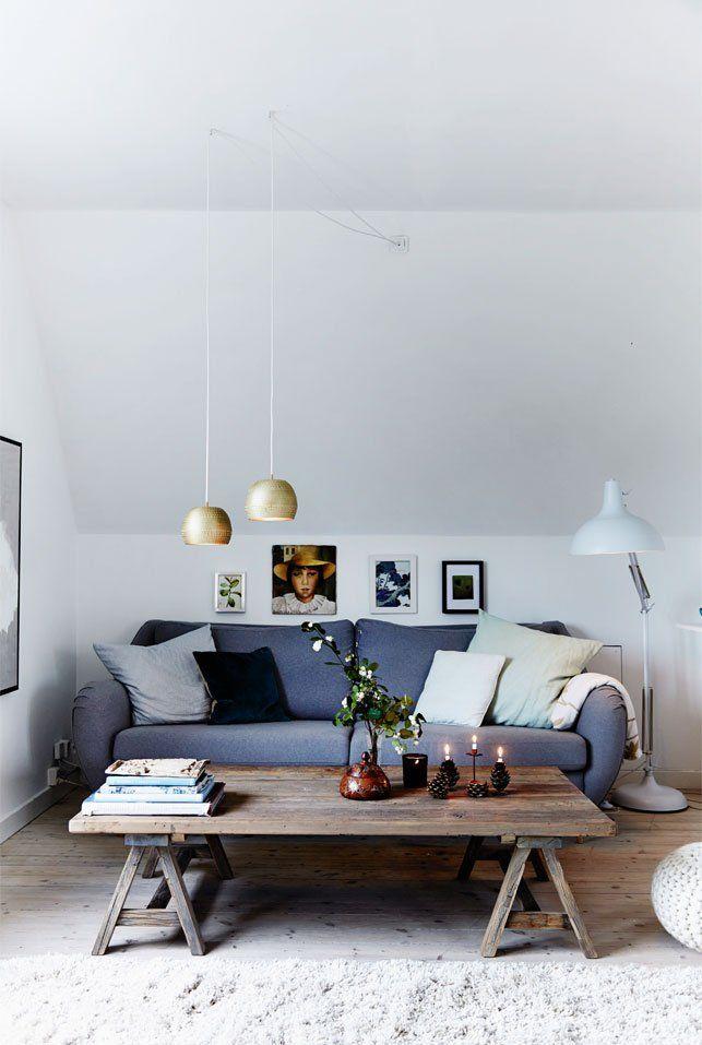 Une chambre refuge sous les combles au Danemark