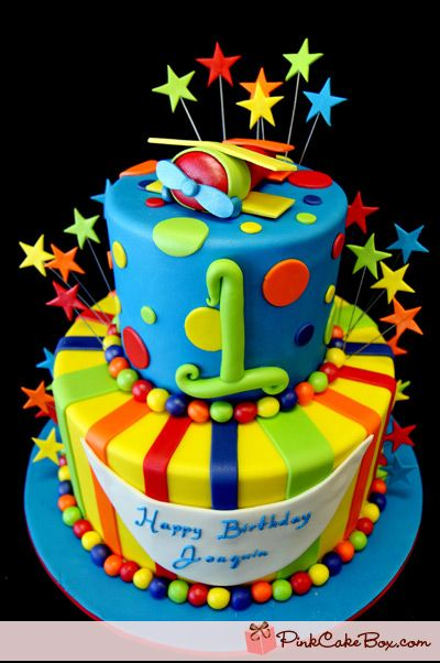 Toy Airplane Birthday Cake