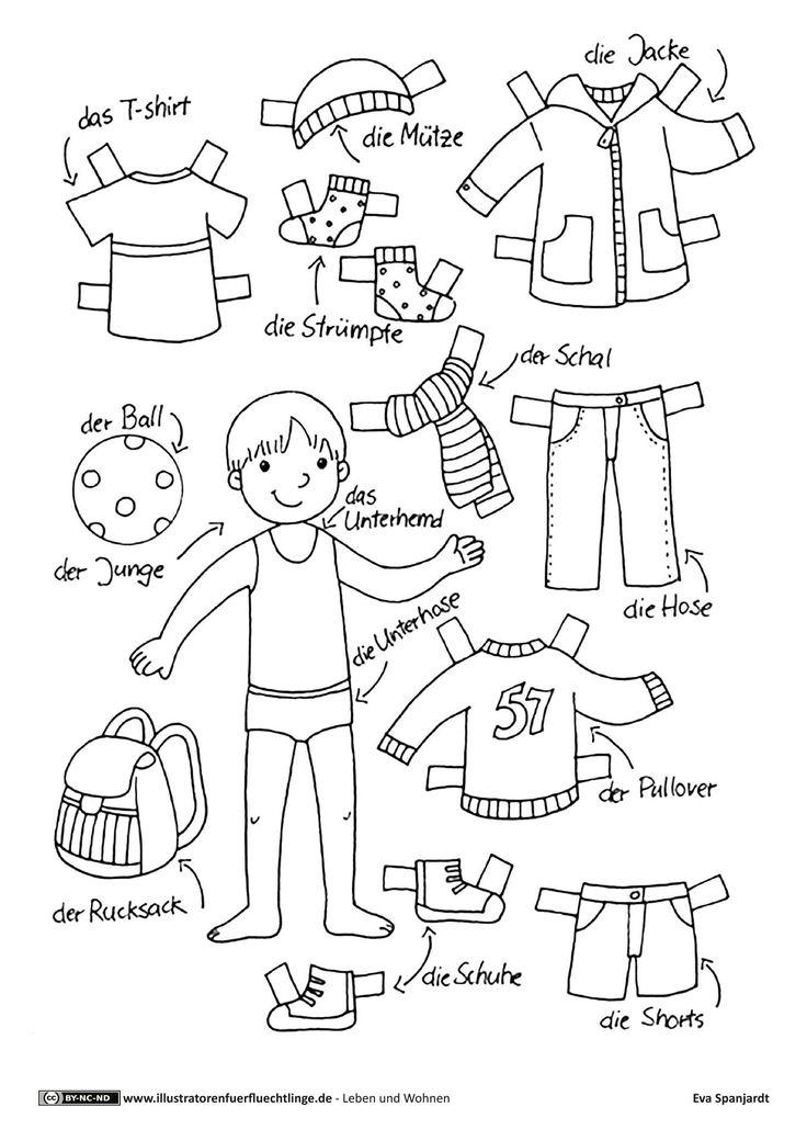 Download als PDF: Leben und Wohnen – Kleidung Anziehpuppe Junge – Spanjardt