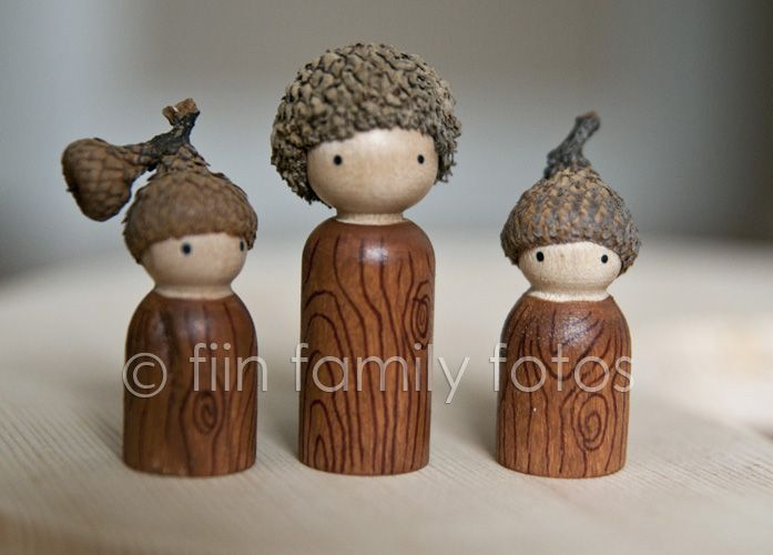 acorn hats and hair