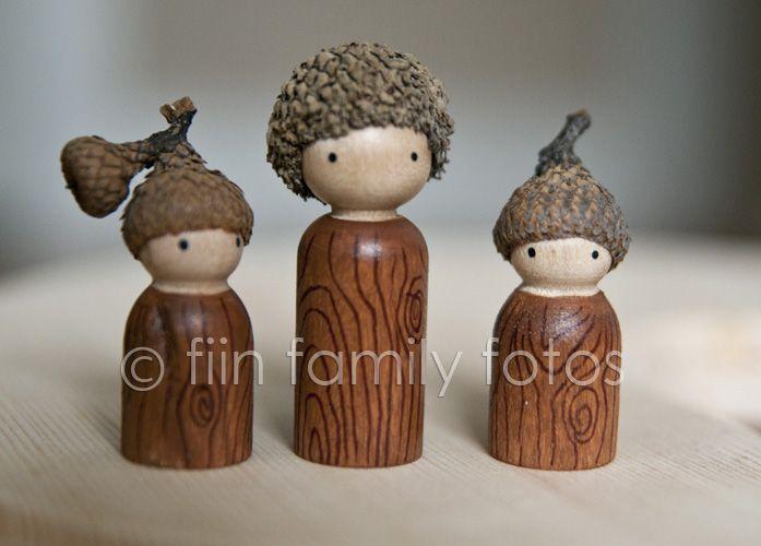 November ~ Squirrels & Nuts ~ Acorn Hats and Hair