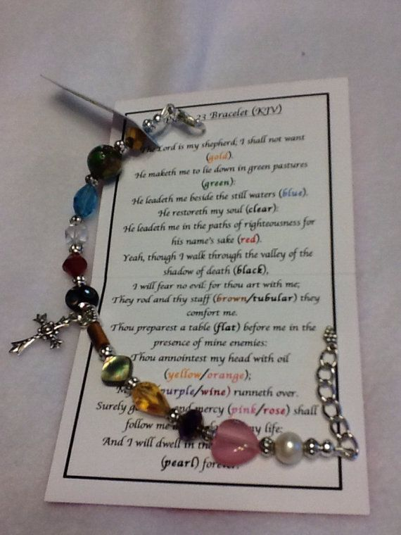 Psalm 23 Bracelet Lobster Claw Copy by styledbysandy on Etsy
