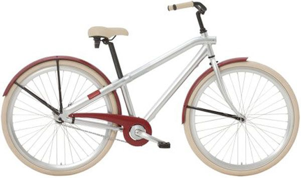 sweet minimalist girly ride.... w/ solar lights built into the frame.. ABUS ringlocksbuilt in .. built in kick stand