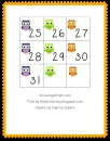 Owl Calendar Numbers product from Growing-in-Pre-K on TeachersNotebook.com