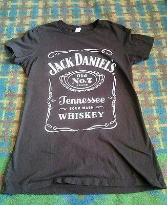 Jack Daniels Shirt L Wild Woman Rock n Roll Whiskey Fitted T Biker Outlaw Bandit