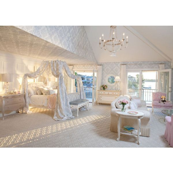 Canopy Beds: 40 Stunning Bedrooms ❤ liked on Polyvore featuring home, furniture, beds and bedroom