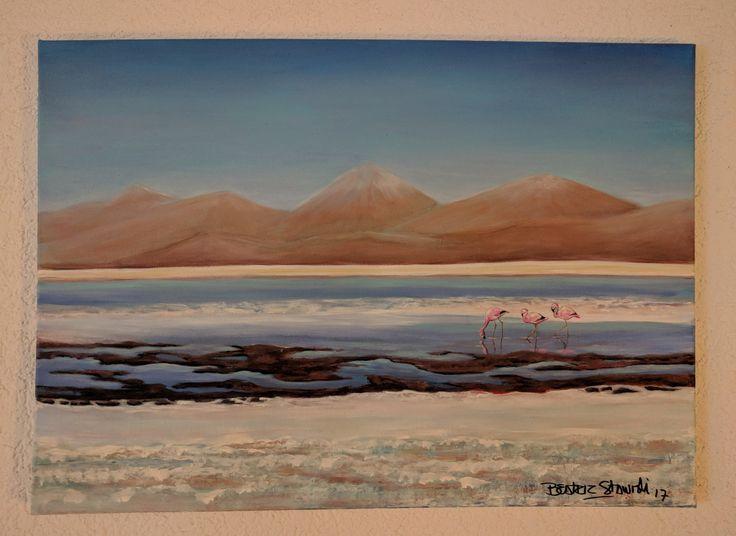 Atacama. Acryl 75*60cm #beatrizstawiskicardenas @paintings.beatriz.stawiski