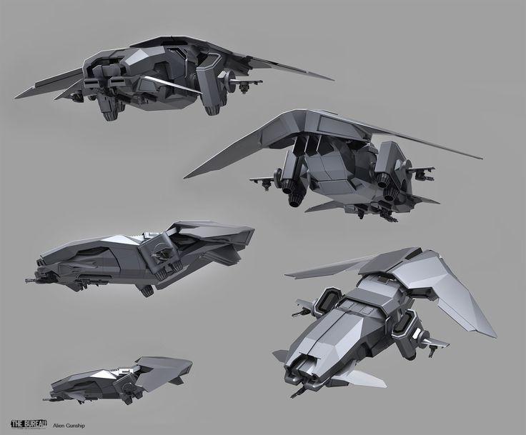 The bureau xcom declassified alien gunship sam brown on for Bureau concept