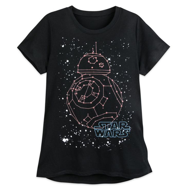 This new women's Star Wars BB-8 Constellation t-shirt is now available at Shop Disney ⭐️The Kessel Runway ⭐️ Star Wars fashion ⭐️ Geek Fashion ⭐️ Star Wars Style ⭐️ Geek Chic ⭐️