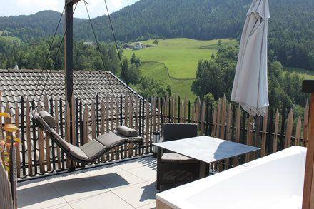 Die Dachterasse des Sterngucker-Appartements  - Aparthotel Sonnleiten Dolomiten Residence