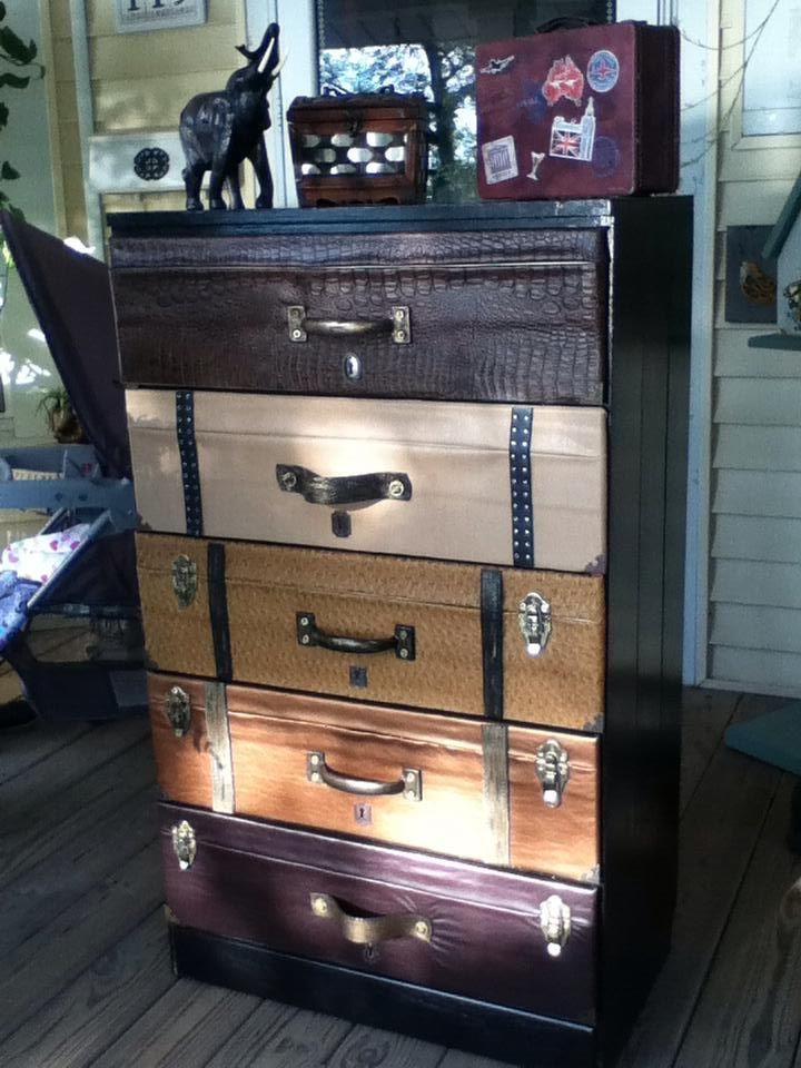 Vintage Suitcase Dresser that I made.