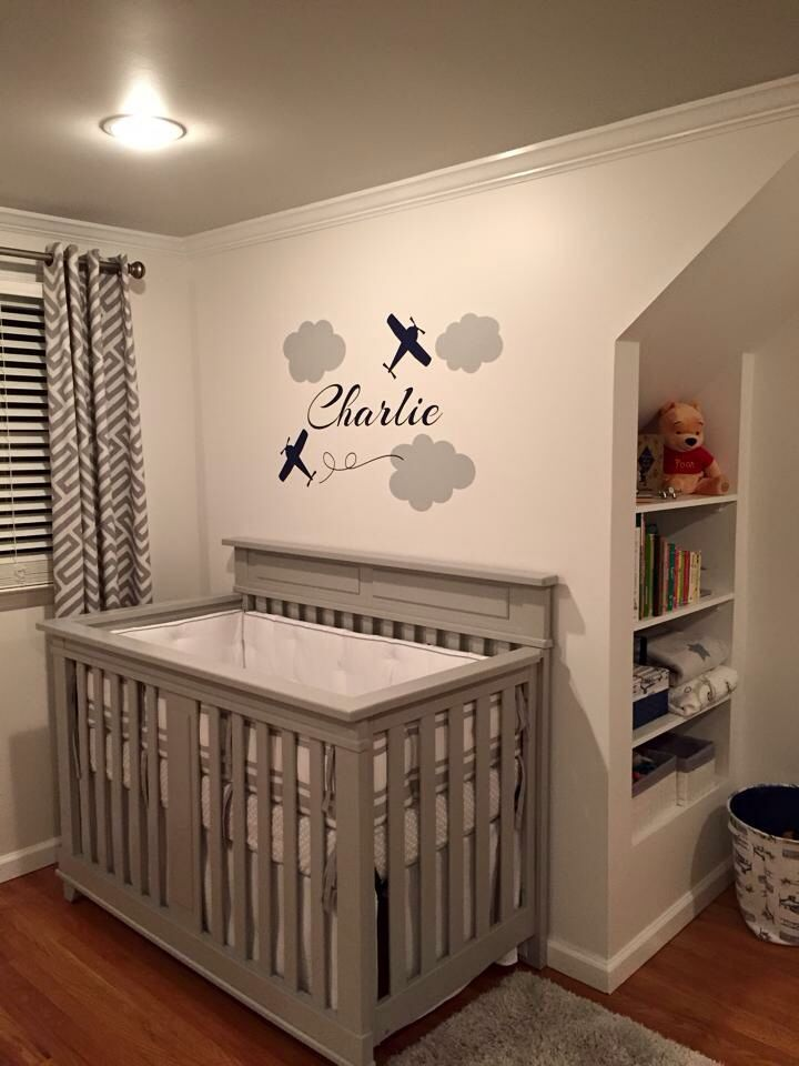 Airplane nursery aeronautical baby boy                              …