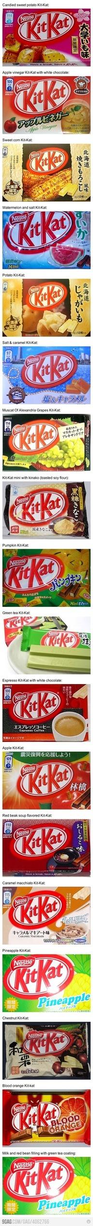a variety of KitKat.