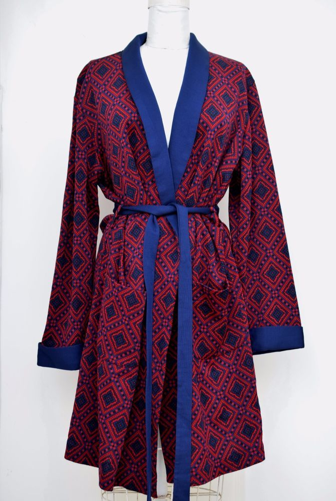 Men's Vintage St Michael Dressing Gown/Smoking Jacket/Robe ~ Size M ~ Excellent! #StMichael #Robe